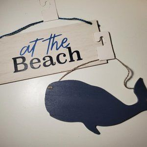 Nautical At the Beach Sign Mini Plaque